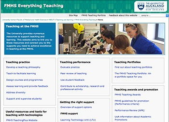 screen capture of Everything Teaching website landing page