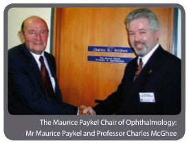 The Maurice Paykel Chair of Ophthalmology - Mr Maurice Paykel and Professor Charles McGhee