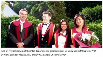 Drs Trevor Sherwin, Gerry Cairns, Nisha Sachdev and Kaa-Sandra Chee