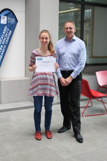 Image of Catherine Webb (winner) and Prof Paul Donaldson