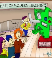 Modern Teaching Curriculum cartoon 2017